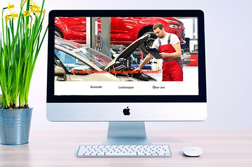 Imac mit Automechaniker als Screenshot