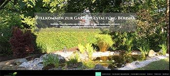 Screenshot Gartengestaltung gartengestaltung-berisha.de in München