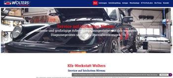 Screenshot Kfz-Werkstatt kfz-wolters.de in Remscheid