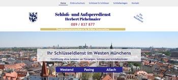 Screenshot Schlüsseldienst schluesseldiens-muenchen-west.de in München