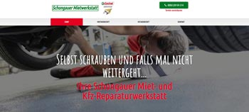 Screenshot Website schongauer-mietwerkstatt